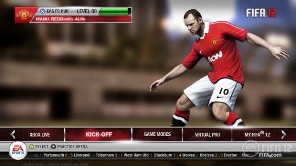 Скриншот из игры Фифа 12