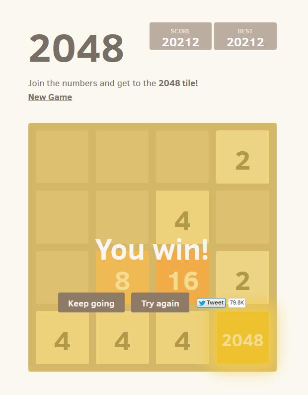 2048 - уникальная логическая онлайн игра головоломка