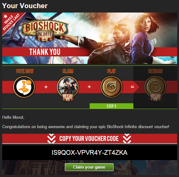BioShock Infinite Voucher