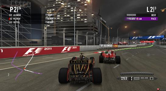 F1 2011 - интерфейс