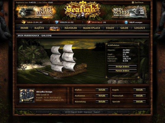 Seafight - морская онлайн игра про корабли и пиратов