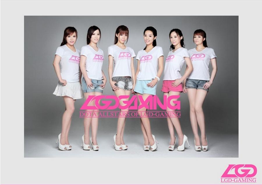 Женская команда из Китая по игре Dota 2