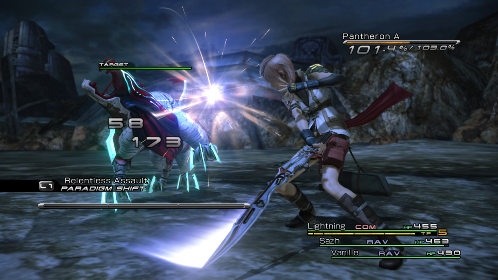 Final-Fantasy-XIII-In-Battle-Screenshot