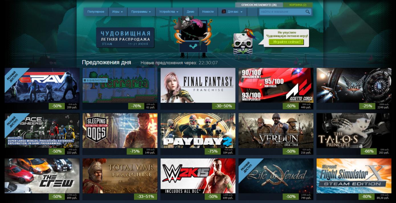Лучшие предложения летней распродажи в Steam: день шестой