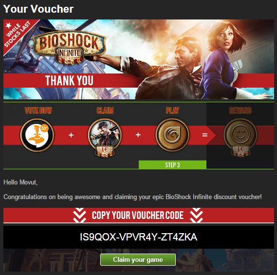 BioShock Infinite Voucher