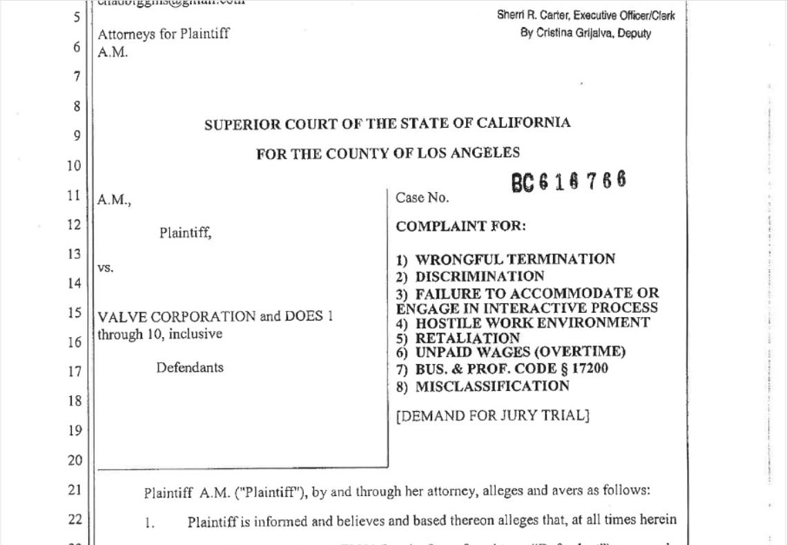 Бывший сотрудник Valve подал на компанию в суд на $3,1 миллиона за дискриминацию трансгендеров