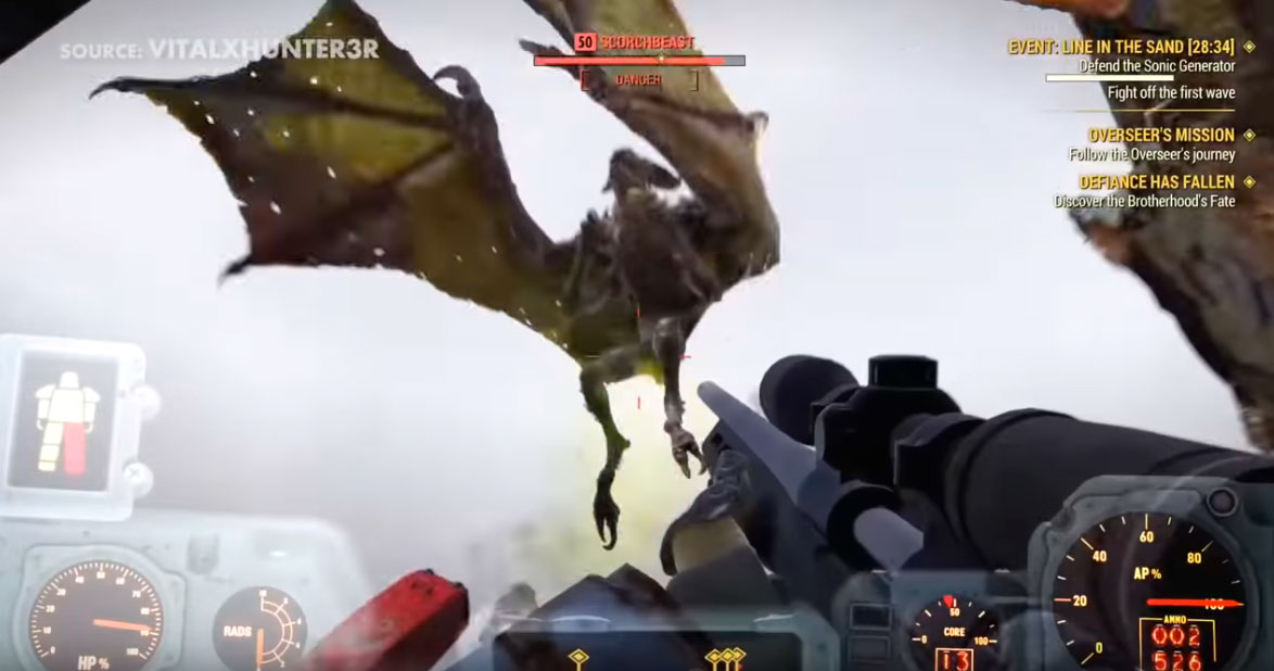Драконы в Фоллауте 76