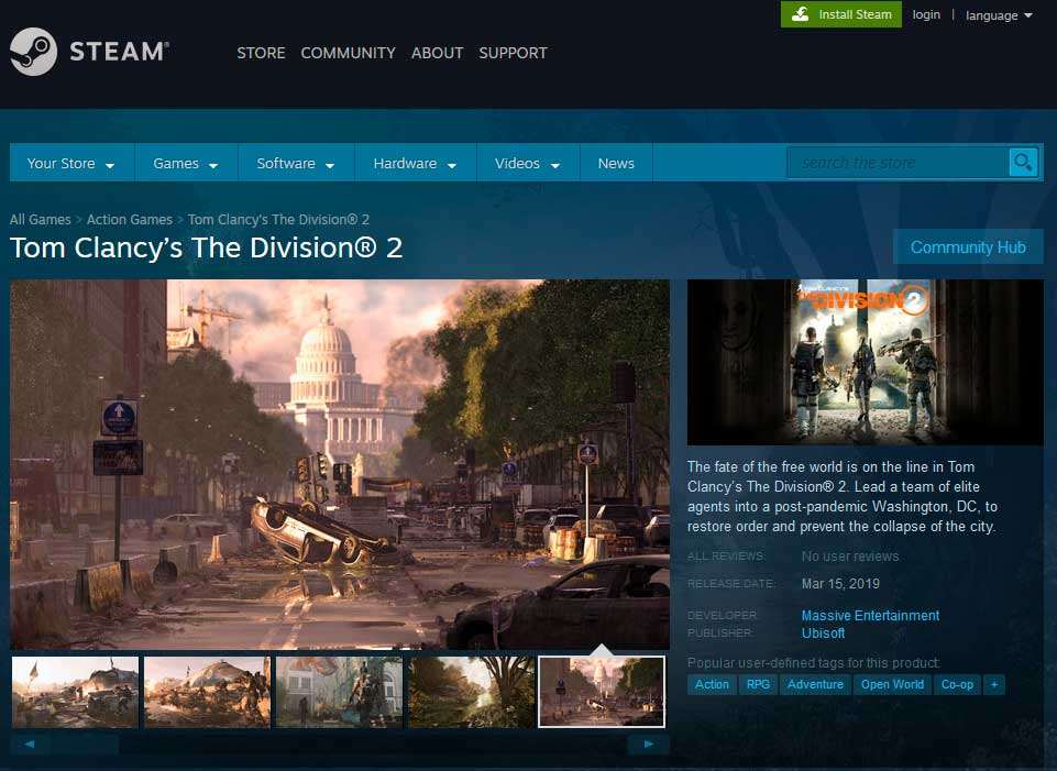 The Division 2 и другие игры от Ubisoft меняют Steam на Epic Games Store